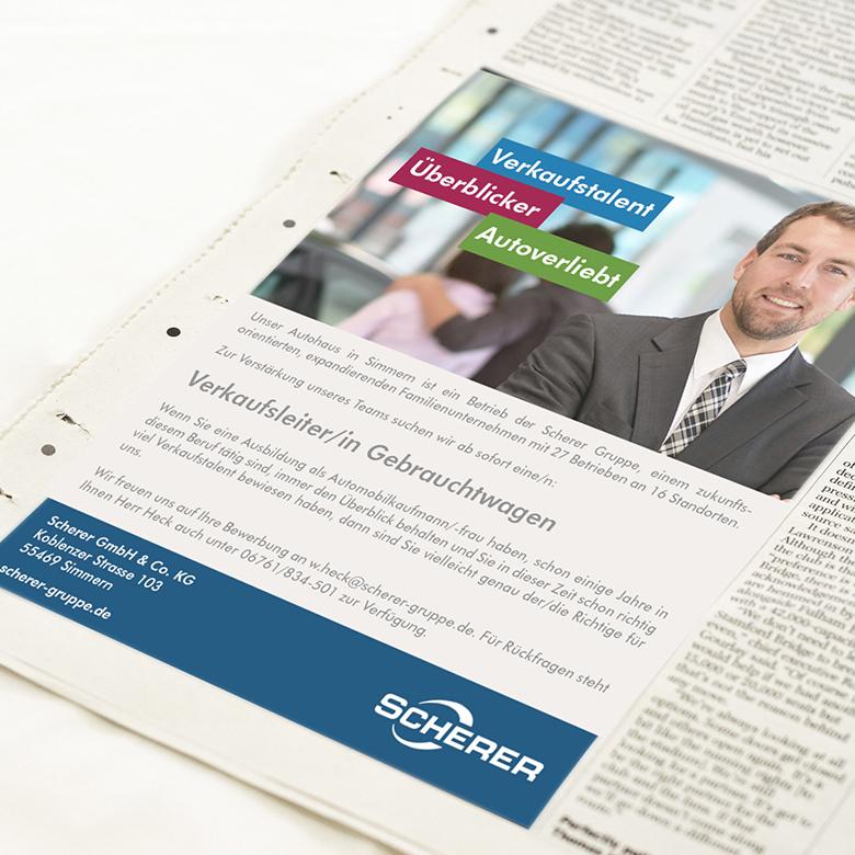 Werbeagentur Schell-Wald Design Grafik- und Webdesign scherer titel