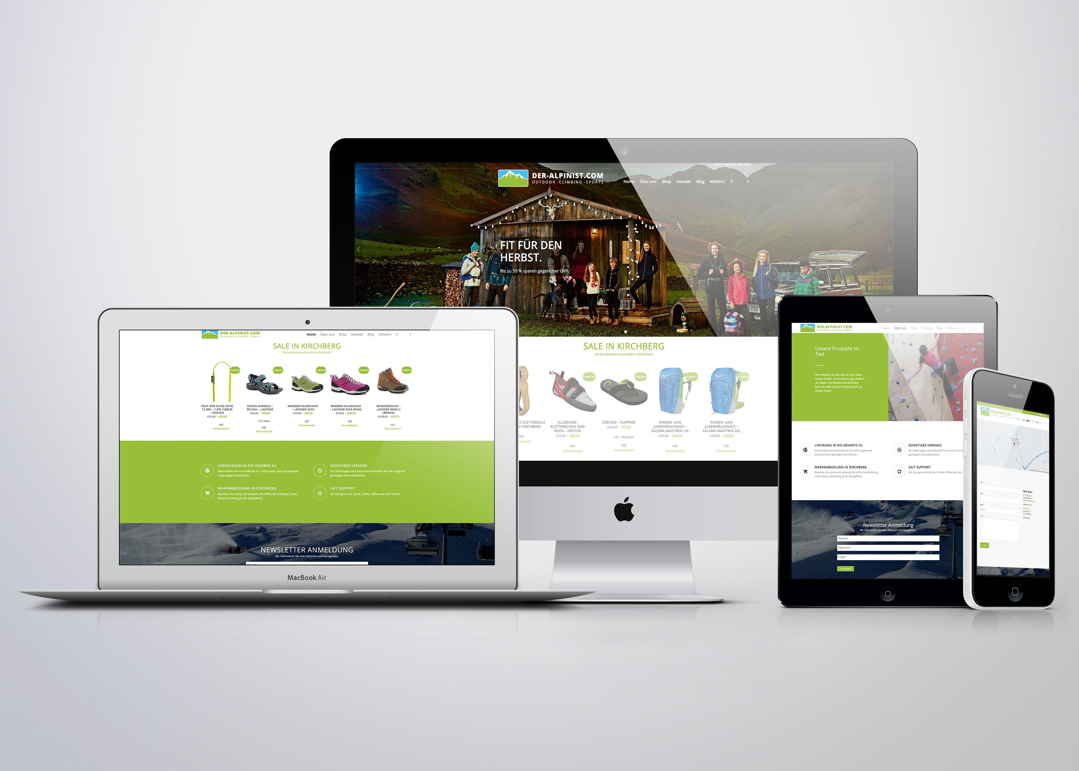 Schell-Wald Design Grafik- und Webdesign alpinist portfolio web