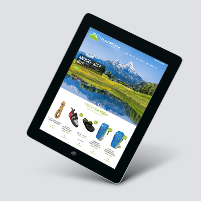 Schell-Wald Design Grafik- und Webdesign alpinist titel